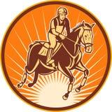 rid- hästbanhoppningshow Royaltyfria Bilder