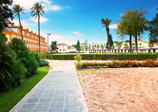 rid- kunglig skola för andaluckonst Royaltyfri Foto