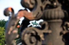 Rid- monument av prinsen Eugen Savoyai Arkivfoto