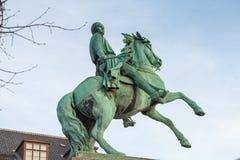 Rid- staty av Absalon Hoejbro Plads Royaltyfria Foton