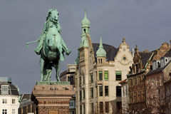Rid- staty av Absalon i Köpenhamnen, Danmark Arkivbild