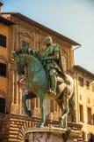 Rid- staty av Cosimo de 'Medici i Florence arkivbilder
