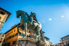 Rid- staty av Cosimo de 'Medici i Florence royaltyfri foto