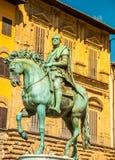 Rid- staty av Cosimo de 'Medici i Florence fotografering för bildbyråer