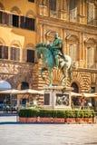 Rid- staty av Cosimo de 'Medici i Florence arkivfoton