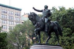 Rid- staty av general George Washington, i den södra siden Royaltyfri Fotografi