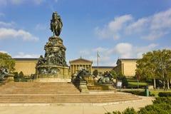 Rid- staty av George Washington, Eakins Oval, Philadelphia royaltyfri foto