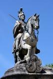 Rid- staty av helgonet Longinus royaltyfria foton