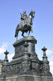 Rid- staty av konungen John av Sachsen ROM-minne Dresden i Tyskland Arkivfoton