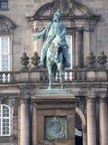 Rid- staty av kristen IX, Köpenhamn arkivbild