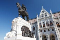 Rid- staty av räkningen Gyula Andrassy på den södra sidan av t Royaltyfria Foton