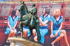 Rid- staty i Madrid, Spanien Arkivbilder