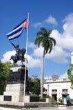 Rid- staty och en kubansk flagga Arkivbild