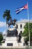 Rid- staty och en kubansk flagga Royaltyfria Foton