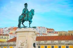 rid- statykonung Jose Lisbon royaltyfri fotografi