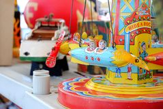 Rida en Rocket Toy Royaltyfria Bilder