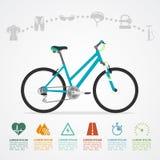 Rida för cykel som är infographic royaltyfri illustrationer