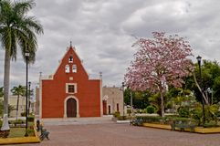 rida itzimn m Мексики de iglesia Стоковое Изображение