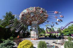 Rida karusellen St Petersburg Royaltyfri Fotografi