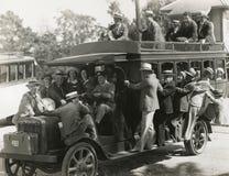 Rida på doubledeckerbussen Royaltyfri Bild