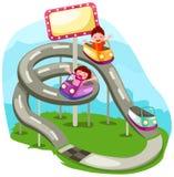 rida rollercoasteren Royaltyfri Fotografi