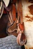 rida sadel Royaltyfri Fotografi