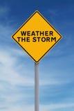 Rida ut stormen Fotografering för Bildbyråer