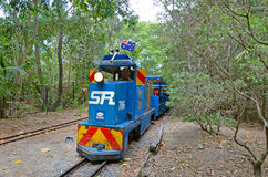 Ridable微型铁路火车 免版税库存图片