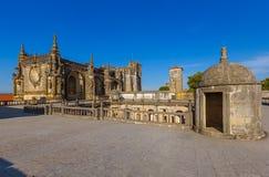Riddare av Templaren & x28en; Kloster av Christ& x29; slott - Tomar Portu Arkivfoton