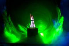 Riddare--Den historiska magiska magin för stilsång- och dansdrama - Gan Po Royaltyfri Bild