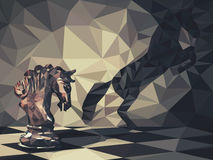 Riddare Low Poly stock illustrationer