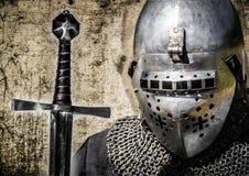 Riddare med svärdet Arkivfoton