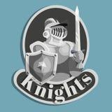 Riddare Metal Emblem Royaltyfria Bilder