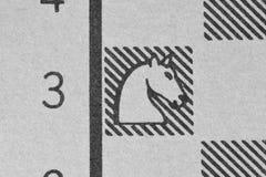 Riddare på ett schackdiagram Royaltyfri Bild