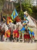 Riddare på hästar Royaltyfri Foto