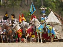 Riddare på hästar Fotografering för Bildbyråer