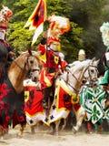 Riddare på hästar Royaltyfri Fotografi