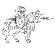 Riddare Rider Royaltyfri Bild