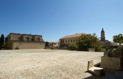 Riddare storslagen förlaga slott, Rhodes ö, Grekland Arkivbild