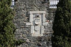 Riddare Symbols i den Bodrum slotten Fotografering för Bildbyråer