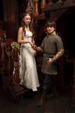 Riddarebröllop Arkivbild