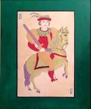Riddaren, hästmannen, djärvhet, glans som vågar arkivfoton