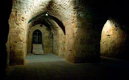 Riddares korridorer - Akko (tunnlandet), Israel arkivfoton