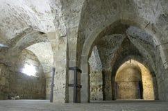 Riddaretemplertunnel jerusalem royaltyfria bilder