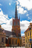 The Riddarholm Church front view. The Riddarholm Church (Vertical View Royalty Free Stock Photography