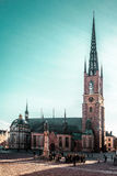 Riddarholm Church at Old Town Gamla Stan in Stockholm, Sweden Stock Image