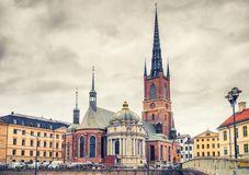 Riddarholm Church In Stockholm, Sweden Royalty Free Stock Image