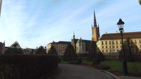 Riddarholm kyrka, en av äldst byggnad i Stockholm, Sverige lager videofilmer