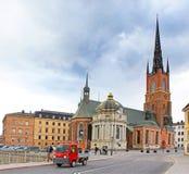 Riddarholmen高耸在斯德哥尔摩,瑞典 库存照片
