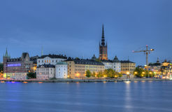 Riddarholmen,小的海岛在中央斯德哥尔摩。 库存照片